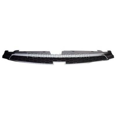 Aftermarket Replacement - GRL-1761C CAPA 11-14 Chevy Cruze Front Upper Face Bar Grill Grille GM1200623 96981100 - Image 1