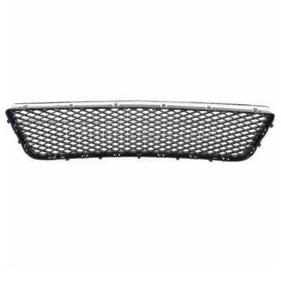 Aftermarket Replacement - GRL-1516C CAPA Chevy Impala Lower Bumper Grill Grille Chrome Frame GM1036107 10333712 - Image 3