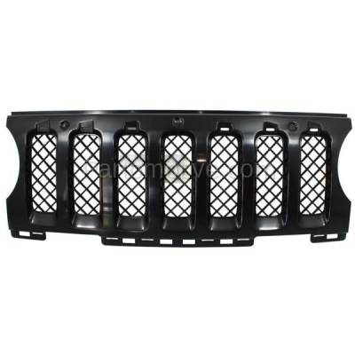 Aftermarket Replacement - GRL-1354C CAPA NEW 11-15 Patriot Front Grill Grille Insert Black CH1210110 68091527AA - Image 1