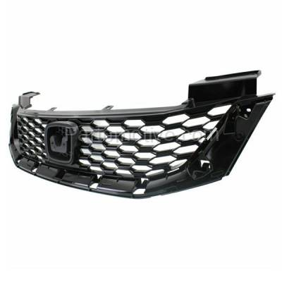 Aftermarket Replacement - GRL-1869C CAPA 13 14 15 Civic Sedan Front Grill Grille Textured HO1200216 71121TR3A01 - Image 2
