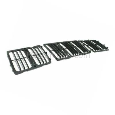 Aftermarket Replacement - GRL-1345C CAPA 14-15 Grand Cherokee Front Grill Grille Insert 3-Piece SET 68143073AC - Image 2