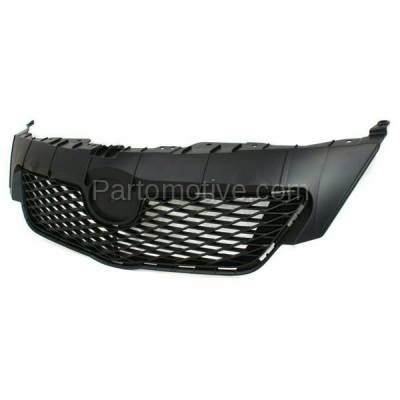 Aftermarket Replacement - GRL-2519C CAPA 09-10 Corolla USA Built Front Grill Grille Black TO1200304 5311102450 - Image 2