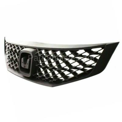 Aftermarket Replacement - GRL-1853C CAPA 09 10 11 Civic Coupe Front Face Bar Grill Grille HO1200199 71121SVAA50 - Image 2