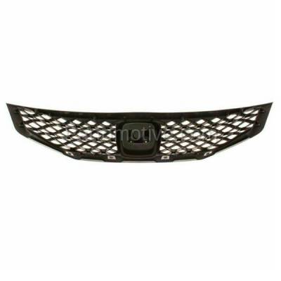 Aftermarket Replacement - GRL-1853C CAPA 09 10 11 Civic Coupe Front Face Bar Grill Grille HO1200199 71121SVAA50 - Image 3
