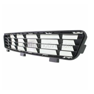 Aftermarket Replacement - GRL-2381C CAPA 10-11 Camry Front Lower Bumper Grill Grille Black TO1036118 5311206090 - Image 2