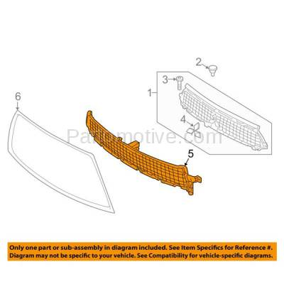 Aftermarket Replacement - GRL-2212C CAPA NEW 10-13 Outlander Front Lower Bumper Grill Grille MI1200258 6402A199 - Image 3