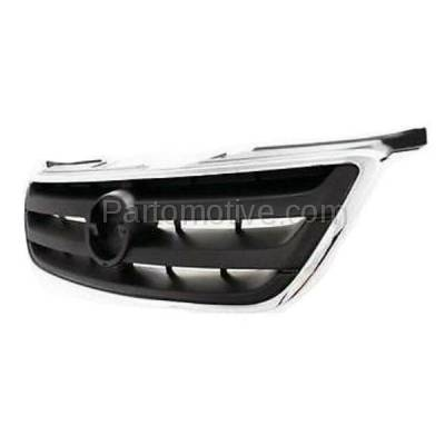 Aftermarket Replacement - GRL-2252C CAPA Front Grill Grille Chrome/Gray NI1200197 620708J100 For 02 03 04 Altima - Image 2