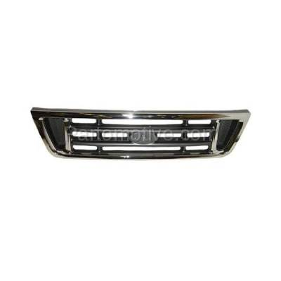 Aftermarket Replacement - GRL-1478C CAPA 03-07 E-Series Van Front Face Bar Grill Grille FO1200428 2C2Z8200AAD - Image 2