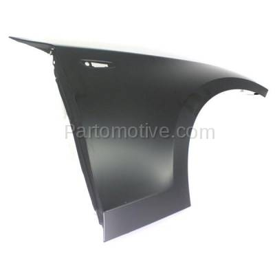Aftermarket Replacement - FDR-1000R 2008-2013 BMW 1-Series (Convertible & Coupe) Front Fender Quarter Panel (without Molding Holes) Primed Steel Right Passenger Side - Image 3