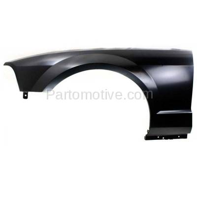 Aftermarket Replacement - FDR-1515L 05-09 Mustang Front Fender Quarter Panel Left Driver Side without Antenna Hole - Image 1