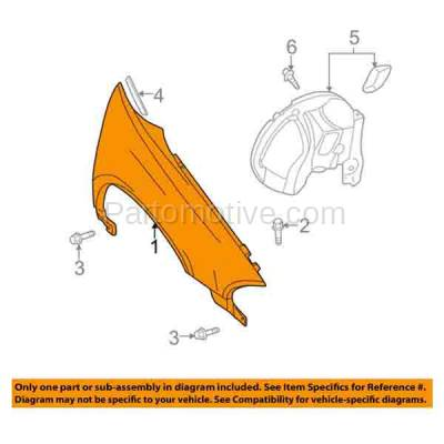 Aftermarket Replacement - FDR-1400R 98-04 Intrepid Front Fender Quarter Panel Passenger Side RH CH1241220 5003064AC - Image 3