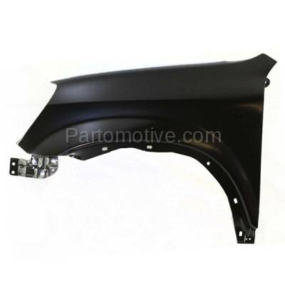 Aftermarket Replacement - FDR-1185L 2002-2006 Honda CR-V (EX, LX, SE) 2.4L Front Fender Quarter Panel (without Turn Signal Lamp Hole) Primed Steel Left Driver Side - Image 1