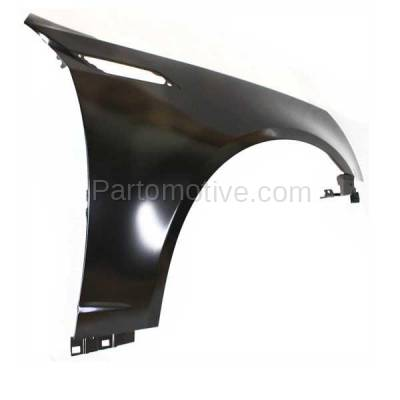 Aftermarket Replacement - FDR-1194R 2008-2015 Cadillac CTS (2.0 & 3.0 & 3.6 & 6.2 Liter Engine) Front Fender Quarter Panel (with Vent Hole) Primed Steel Right Passenger Side - Image 2