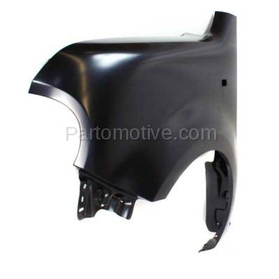 Aftermarket Replacement - FDR-1196L 2009-2014 Nissan Cube (Base, S, SL) Wagon Front Fender Quarter Panel (with Turn Signal Light Hole) Primed Steel Left Driver Side - Image 2