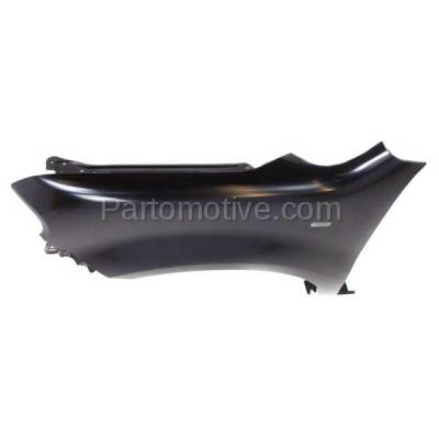 Aftermarket Replacement - FDR-1196L 2009-2014 Nissan Cube (Base, S, SL) Wagon Front Fender Quarter Panel (with Turn Signal Light Hole) Primed Steel Left Driver Side - Image 3