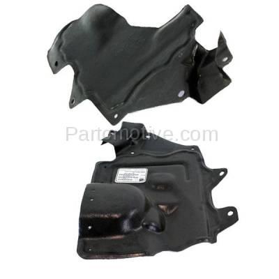 Aftermarket Replacement - ESS-1528L & ESS-1528R Front Engine Splash Shield Under Cover Fits 07-12 Sentra Left & Right SET PAIR - Image 1