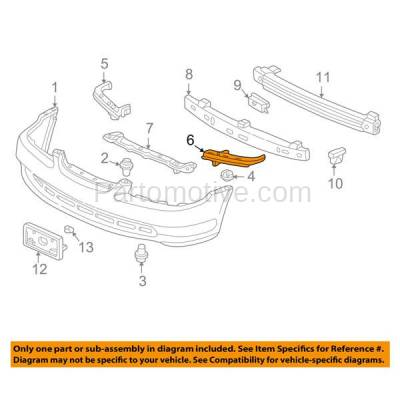 Aftermarket Replacement - BRT-1069FL & BRT-1069FR 98-02 Accord Front Bumper Cover Face Bar Filler Retainer Mounting Brace Support Bracket SET PAIR Right Passenger & Left Driver Side - Image 3