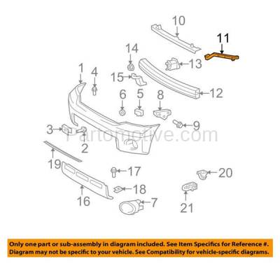 Aftermarket Replacement - BRT-1147FL & BRT-1147FR 2007-2013 Toyota Tundra & 08-19 Sequoia Front Bumper Cover Outer Mounting Reinforcement Support Bracket SET PAIR Right & Left Side - Image 3
