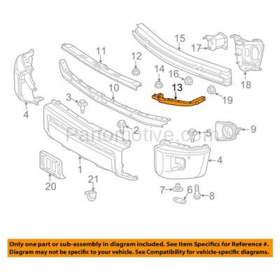Aftermarket Replacement - BRT-1195FL & BRT-1195FR 2014-2019 Toyota Tundra Pickup Truck Front Bumper Cover Mounting Brace Reinforcement Support Bracket Steel SET PAIR Right & Left Side - Image 3