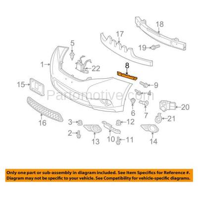 Aftermarket Replacement - BRT-1188FL & BRT-1188FR 2011-2019 Toyota Sienna Front Bumper Cover Retainer Mounting Brace Reinforcement Support Bracket SET PAIR Right Passenger & Left Driver Side - Image 3