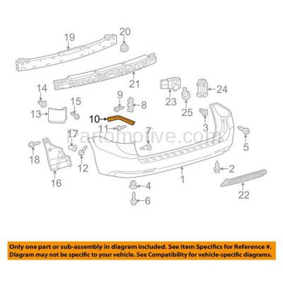 Aftermarket Replacement - BRT-1169RL & BRT-1169RR 2011-2019 Toyota Sienna Rear Bumper Cover Retainer Mounting Brace Reinforcement Support Bracket Plastic SET PAIR Right & Left Side - Image 3