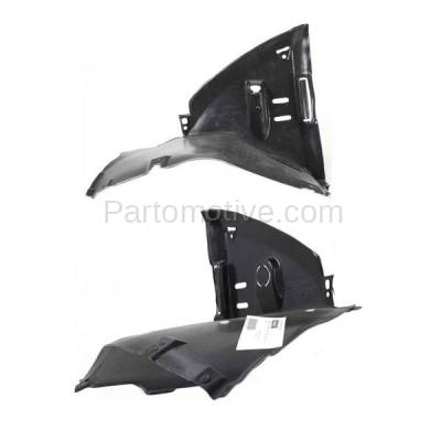 Aftermarket Replacement - IFD-1099L & IFD-1099R 00-06 3-Series Front Splash Shield Inner Fender Liner Panel Left Right SET PAIR - Image 2