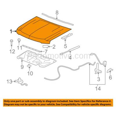 Aftermarket Replacement - HDD-1282 2007-2014 Chevy Avalanche & Suburban 1500/2500 & Tahoe (4.8 & 5.3 & 6.0 & 6.2 Liter V8 Engine) Front Hood Panel Assembly Primed Steel - Image 3