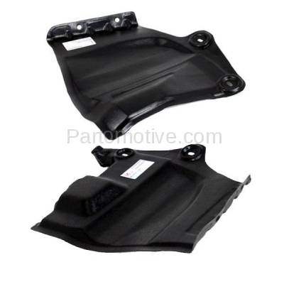 Aftermarket Replacement - ESS-1531L & ESS-1531R 2009-2014 Nissan Murano & 2011-2017 Quest Van Front Outer Engine Under Cover Splash Shield Undercar Guard Plastic PAIR SET Left & Right Side - Image 2
