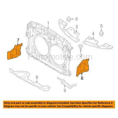 Aftermarket Replacement - ESS-1531L & ESS-1531R 2009-2014 Nissan Murano & 2011-2017 Quest Van Front Outer Engine Under Cover Splash Shield Undercar Guard Plastic PAIR SET Left & Right Side - Image 3