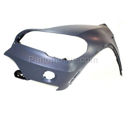 Aftermarket Replacement - FDR-1820L 2007-2010 BMW X5 (Models without Headlight Washer) Front Fender Quarter Panel with Reflector Lamp Hole Left Driver Side - Image 2
