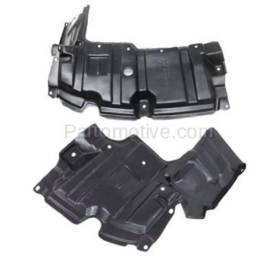 Aftermarket Replacement - ESS-1586L & ESS-1586R 12-15 Prius C Front Engine Splash Shield Under Cover Guard Left & Right SET PAIR - Image 1