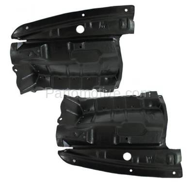 Aftermarket Replacement - ESS-1535L & ESS-1535R Front Splash Shield Under Guard For 02-03 Maxima & 02-04 I35 Left Right SET PAIR - Image 1