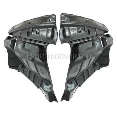 Aftermarket Replacement - ESS-1535L & ESS-1535R Front Splash Shield Under Guard For 02-03 Maxima & 02-04 I35 Left Right SET PAIR - Image 3