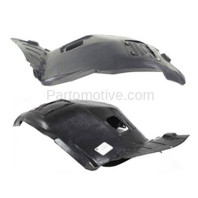 Aftermarket Replacement - IFD-1101L & IFD-1101R 06-12 3-Series Front Splash Shield Inner Fender Liner Panel Left Right SET PAIR - Image 2