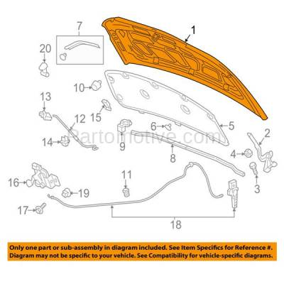 Aftermarket Replacement - HDD-1315 2012-2016 Chevrolet Sonic (LS, LT, LTZ, RS) (Hatchback & Sedan 4-Door) Front Hood Panel Assembly Primed Steel - Image 3