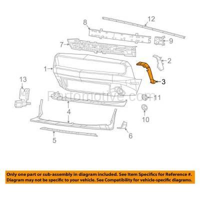 Aftermarket Replacement - BRT-1010FL & BRT-1010FR 2008-2017 Dodge Challenger Front Bumper Cover Retainer Bracket Mounting Brace Reinforcement Support SET PAIR Right & Left Side - Image 3