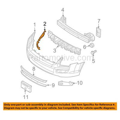 Aftermarket Replacement - BRT-1023FL & BRT-1023FR 06-09 Fusion & Milan Front Bumper Cover Retainer Mounting Brace Reinforcement Support (with Reflector Lamp) SET PAIR Right Passenger & Left Driver Side Plastic - Image 3