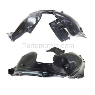 Aftermarket Replacement - IFD-1105L & IFD-1105R 04-07 5-Series Front Splash Shield Inner Fender Liner Panel Left Right SET PAIR - Image 2