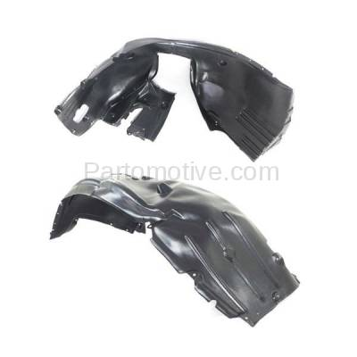Aftermarket Replacement - IFD-1105L & IFD-1105R 04-07 5-Series Front Splash Shield Inner Fender Liner Panel Left Right SET PAIR - Image 3