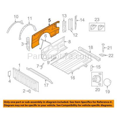 Aftermarket Replacement - FDR-1283R 09-14 F150 Truck w/6 Ft Styleside Bed Rear Fender Quarter Panel Passenger Side - Image 3