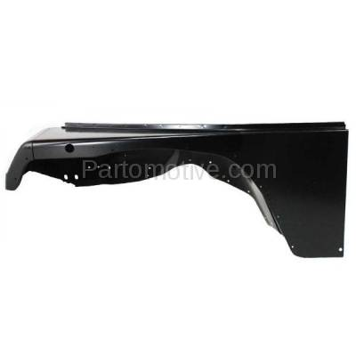 Aftermarket Replacement - FDR-1811L 1987-1995 Jeep Wrangler (without Renegade Package) Front Fender Quarter Panel (with Fender Flare Holes) Steel Left Driver Side - Image 1