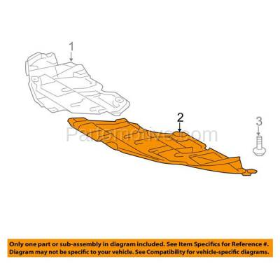 Aftermarket Replacement - ESS-1606RC CAPA For 12-14 Camry Front Engine Splash Shield Under Cover Guard Right Side - Image 3
