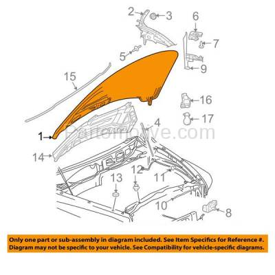 Aftermarket Replacement - HDD-1093 2002-2008 Dodge Ram 1500 & 2002-2009 Ram 2500/3500 Full Size Pickup Truck Front Hood Panel Assembly Primed Steel - Image 3