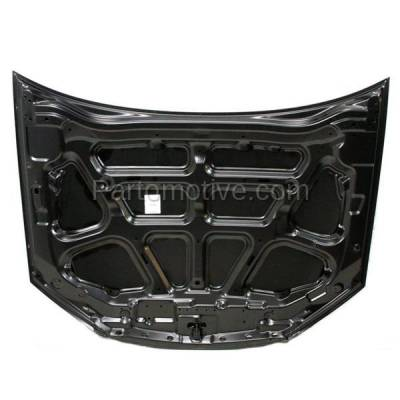 Aftermarket Replacement - HDD-1439 2004-2009 Kia Spectra & 2005-2009 Spectra5 (Base, EX, GS, GSX, LS, LX, SX) Hatchback & Sedan Front Hood Panel Assembly Primed Steel - Image 3