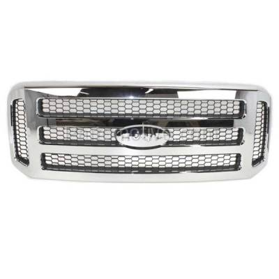 Aftermarket Replacement - GRL-1490C CAPA 05-07 F-Series SuperDuty Truck Front Grill Grille FO1200456 5C3Z8200BAA - Image 1