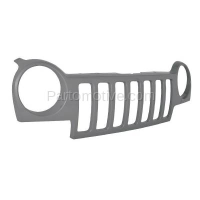 Aftermarket Replacement - GRL-1268C CAPA 02 03 04 Jeep Liberty Front Grill Grille Shell w/o-Insert CH1200232 - Image 2