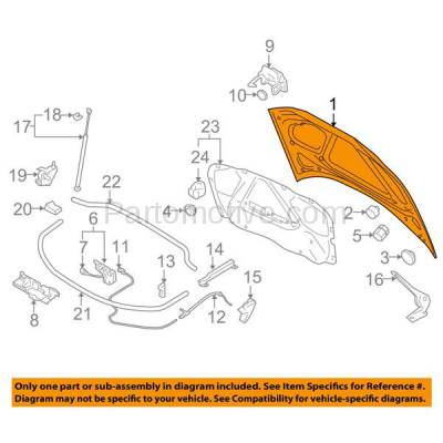 Aftermarket Replacement - HDD-1026 2009-2013 Audi A3 & A3 Quattro (Hatchback 4-Door) Front Hood Panel Assembly Primed Steel - Image 3