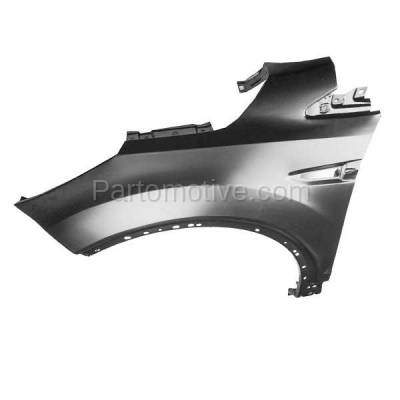 Aftermarket Replacement - FDR-1263L 2013-2019 Ford Escape (1.5L & 1.6L & 2.0L & 2.5L) Front Fender Quarter Panel (without Molding Holes Primed Steel Left Driver Side - Image 2