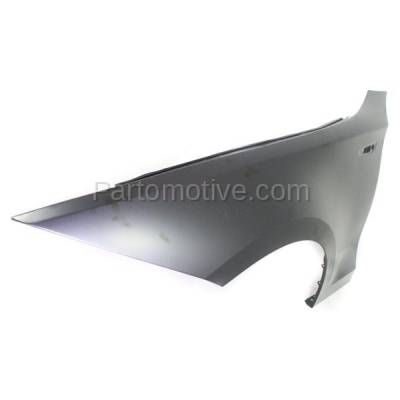 Aftermarket Replacement - FDR-1000L & FDR-1000R 2008-2013 BMW 1-Series (Convertible & Coupe) Front Fender Quarter Panel (without Molding Holes) Primed Steel Pair Set Right & Left Side - Image 2