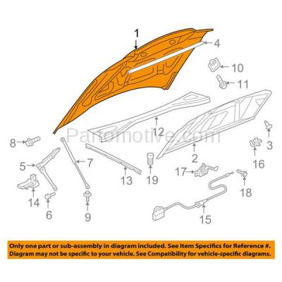 Aftermarket Replacement - HDD-1774 2005-2010 Chrysler 300 (Base, C, C Heritage, C Lujo, C SRT-8, Limited, LX, S, Signature Series, Touring) Front Hood Panel Assembly Primed Steel - Image 3